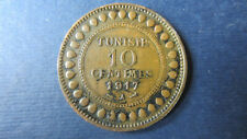 Tunesien 10  Centimes 1917  A  in  ss+ (1116)