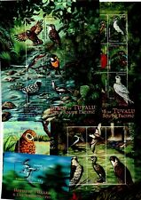 More details for (v34) tuvalu -  2000 birds of tualu & the south pacific  - 5 mini sheets mnh