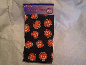 JACK O' LANTERN PUMPKIN ACTIVE BANDANNA CLOTH Halloween,hav-a-hank,all over glow