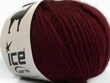 Peru Alpaca Bulky Yarn - Burgundy #48699 Ice 50g Merino Wool Alpaca Acrylic