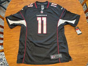 Nike NFL On Field Arizona Cardinals #11 Larry Fitzgerald Jersey 2XL XXL Black
