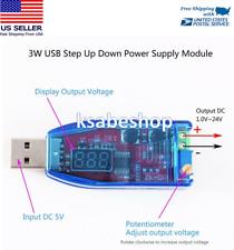 LED DC-DC 5V to 24V Adjustable Potentiometer USB Step Up/Down Buck Boost Module