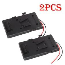 2* Battery Back Pack Plate Adapter for Sony V-shoe V-Mount V-Lock External DSLR