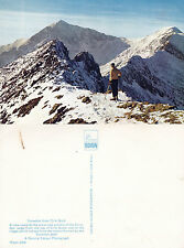 1980's SNOWDON FROM CRIB GOCH CAERNARVONSHIRE WALES UNUSED COLOUR POSTCARD