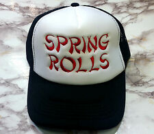 New Chinese SPRING ROLLS Embroidery Trucker Mesh Cap Snapback Hat