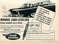 1957 Monroe Load Leveler Replacement Shock Absorbers Keep Loaded Cars Level Ad