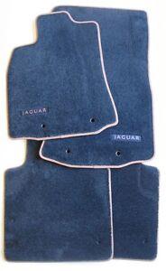 Original Jaguar neuer XJ X351 Fußmatten Satz NEU Blau / Braun