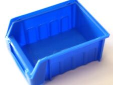 10 Pack Small Plastic Storage Bins Parts Bins Box Stackable or Hanging Clearance