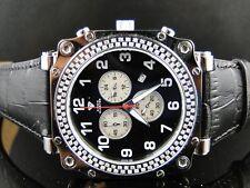 Mens Black Aqua Master Diamond Watch Diamonds 1.25 Ct
