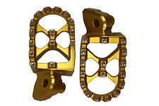 GOLD MX Motocross Footrests Foot Pegs SUZUKI RMZ250 RMZ450 RMZ 250 450 05-09