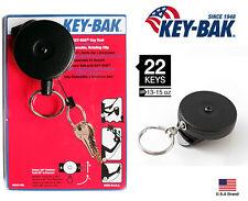 "Key-Bak Retractable 360 Degree Rotation Black Key Reel Super Duty 36"" Cord"
