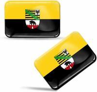 3D Gel Aufkleber Sachsen Anhalt Fahne Bundesland Deutschland Flagge Flag Sticker