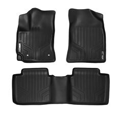 SMARTLINER All Weather Custom Fit Floor Mats Liner Full Set for Corolla (Black)
