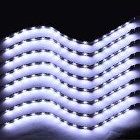 8Pcs 15 LED 30cm SMD Car Vehicle Flexible Waterproof Strip Light White 12V Sales