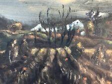 OUTSIDER ART ORIGINAL OIL ON BOARD KEN BEITEL 1940s World War II NORTHFIELD MINN