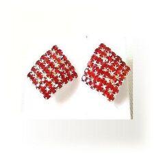 Rhinestone Stud Costume Earrings