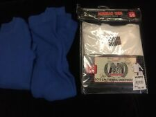 Lot 3 American Hero Blue Toddler Boys Thermal Long Underwear. NWT And Used