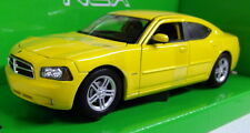 Nex Models 1/24 Scale 22476S Dodge Charger R/T Yellow Diecast model car