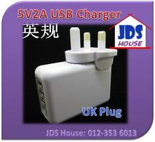 4 Port USB Charger Wall Travel Adapter 5V2A iPhone Ipad Samsung