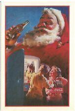 Santa Claus Coca-Cola Advertising Detachable Postcard w/ Kodak Coupons 1991