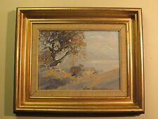 Alan Grosvenor Signed Landscape Painting On Canvas Board, Australian Artist