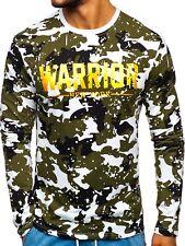 Longsleeve Sweatshirt Pullover Pulli Rundhals Camo Army Herren BOLF 1A1 Motiv