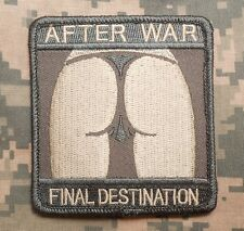 AFTER WAR FINAL DESTINATION BADGE ACU LIGHT VELCRO® BRAND FASTENER PATCH