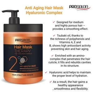 Hair Mask for Dry Damage Hair-Conditioner Hyaluronic Complex-Intensive Hydration