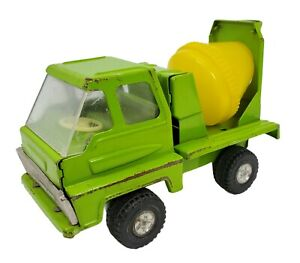 Cragstan Steel Truck Cement Mixer Construction Toy Lime Green Made In Japan Vtg