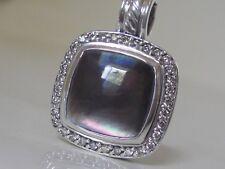 $1050 DAVID YURMAN SS ALBION BLACK MOTHER OF PEARL DIAMOND ENHANCER