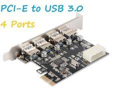 4Port PCI-E to USB 3.0 PCI Express Expansion Card Adapter Hub VIA 5Gbps
