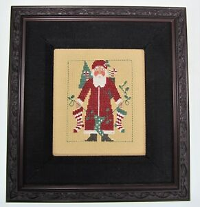 Santa Claus Stockings Toys Holiday CrossStitch Needlework Christmas Wall Picture