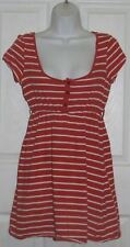 Women Xhilaration Red with White Stripe Cap Sleeve Top S