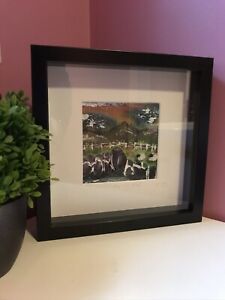 """BNWOT """"The Hill Flock"""" Textile Framed Art"""