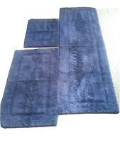 Navy blue bathroom rug set ,(brand - M Design )