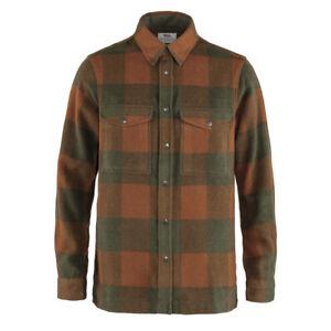 New Fjallraven Canada Shirt Autumn Leaf / Laurel Green