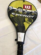 Wilson Energy Titanium Soft Shock 3 Yellow Tennis Racket W/Case Tension 50-60 lb