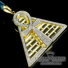 Egyptian Ankh Cross Symbol Of Life Pendant Necklace Charm Genuine Real Diamond