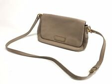 MARC BY MARC JACOBS TOO HOT TO HANDLE LEA TRACKER TAN LEATHER CROSSBODY  BAG