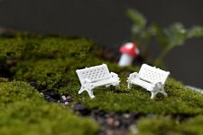 2 pcs Miniature Fairy Garden Chair Bench Terrarium Furniture -FAST USA SHIPPING