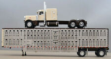 Dcp 1/64 Brown Cream Peterbilt 389 Wilson Cattle Livestock Trailer 60-0939