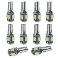 10x T10 168 194 W5W White Led Canbus Error Free 5 SMD Car Side Wedge light Bulb
