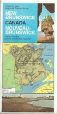 1970 NEW BRUNSWICK Official Highway Road Map Canada Fredericton Moncton Bathurst