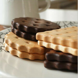 Placemat Pot Table Mat Wooden Biscuit Design Coaster Photography Props SG