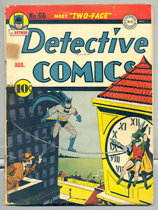 Detective Comics #66 (1942) -- Origin/1st App. of Two-Face -- GOLDEN AGE KEY