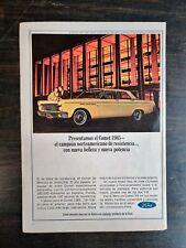 Vintage 1965 Ford Mercury Comet Spanish Espanol Full Page Original Color Ad RARE