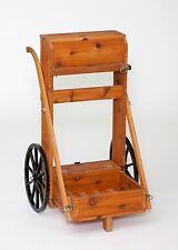 Wooden Gun Cart Western Red Cedar Wood Natural Finish Amish-made in USA