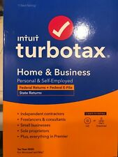 TurboTax 2020 Home & Business Federal and State Returns Disk+  INCLUDES DOWNLOAD