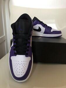 Nike Air Jordan 1 Low Court Purple UK 8 US 9
