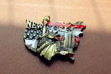 United States, New York, Statue of Liberity, 3D Metal Souvenir Fridge Magnet